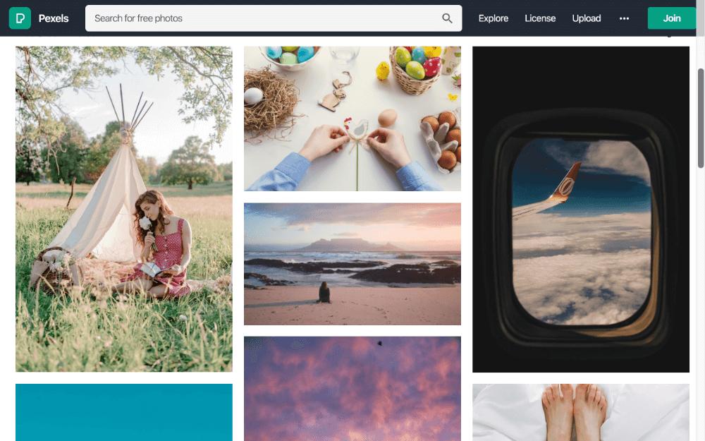 Pexels เว็บไซต์ แจกภาพฟรี