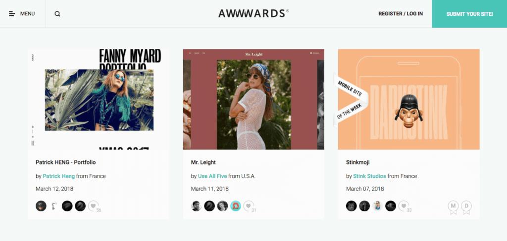 เว็บไซต์ Awwwards