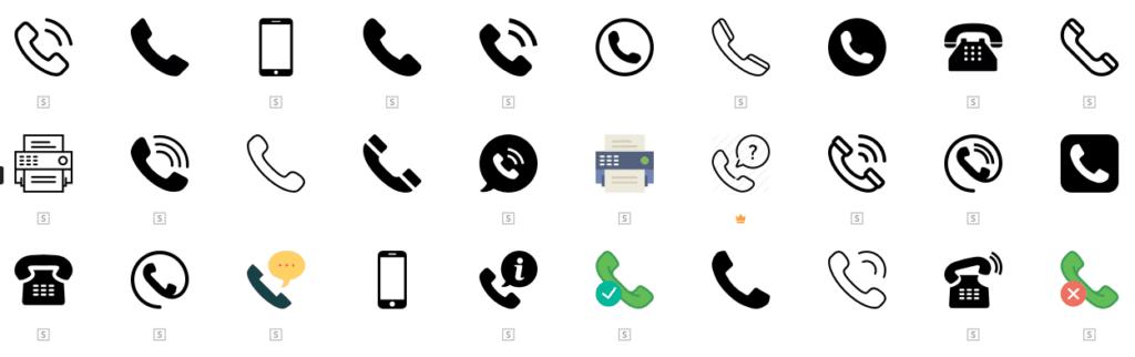 แค่ไอคอนโทรศัพท์ก็มีให้เลือกหลายแบบ - www.flaticon.com