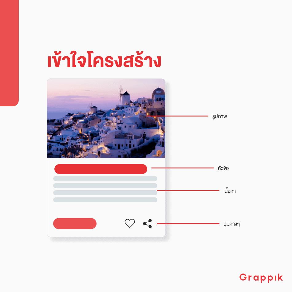 ตัวอย่าง Card Design ของ Content