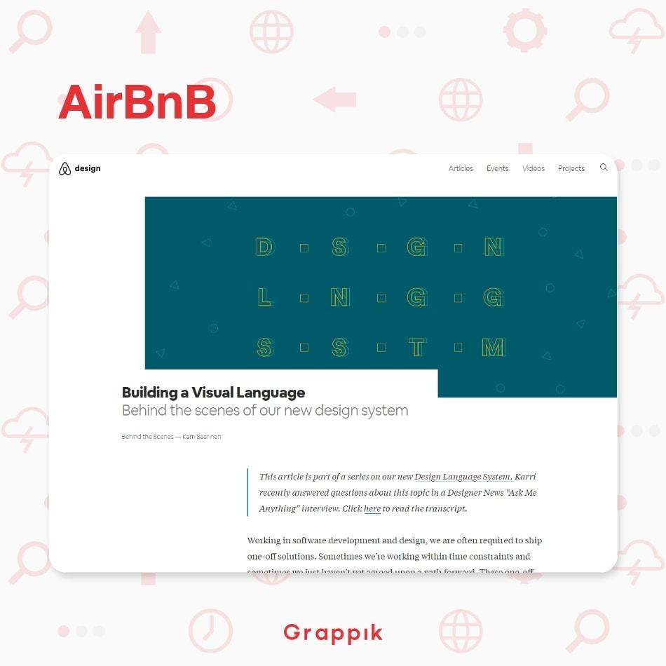 ตัวอย่าง Design System ของบริษัท AirBNB