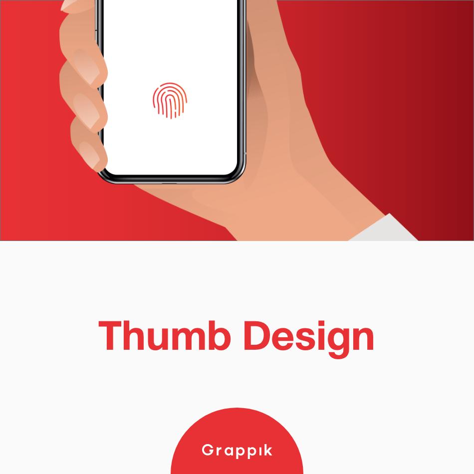 เทรนด์ออกแบบเว็บไซต์ 2019 ออกแบบให้รองรับการใช้นิ้วโป้ง