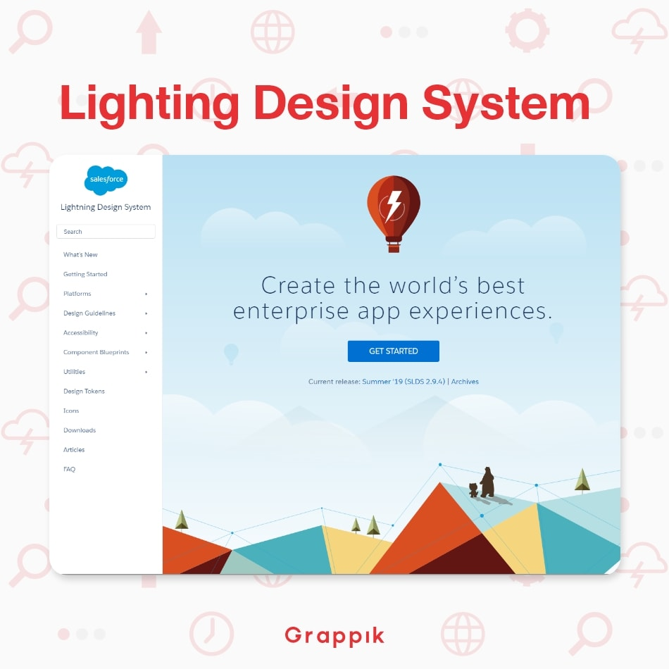 ตัวอย่าง Design System ของ Lightning