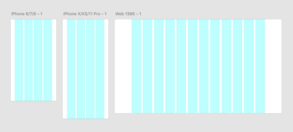 Grid ของ โปรแกรม Adobe XD