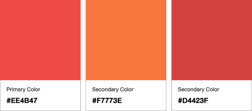 Primary and Secondary Color Palette