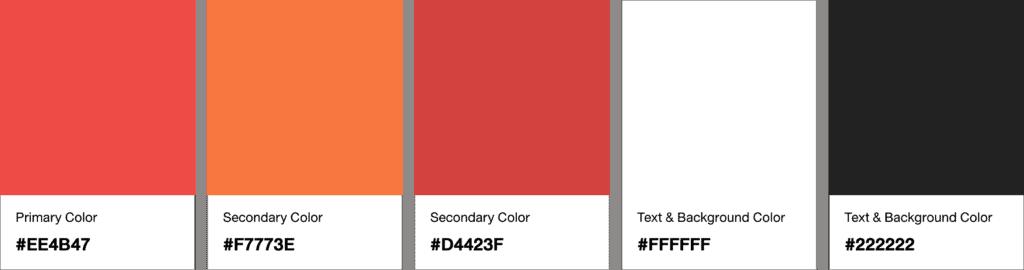 ชุดสี Color Palette ที่เสร็จสมบูรณ์