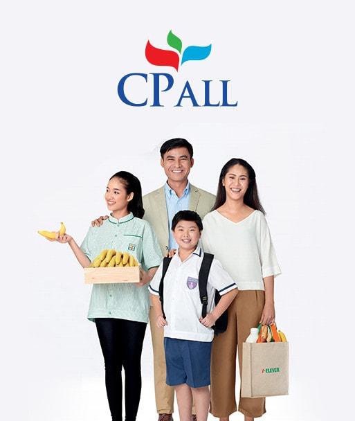 ผลงานออกแบบเว็บไซต์ CP ALL โดย Grappik Digital Agency